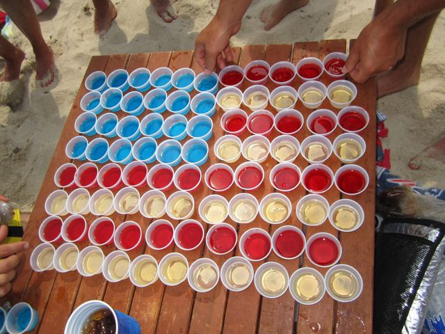 American Flag Jell-O Shots vs Texas Caviar?