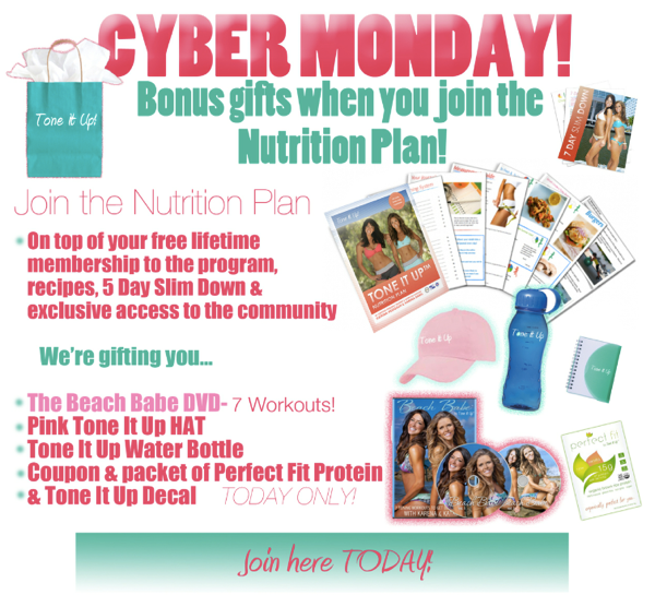TOne It Up Cyber Monday