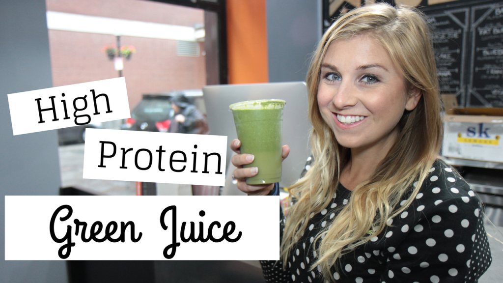 "High Protein Green ""Juice"" Smoothie Recipe"