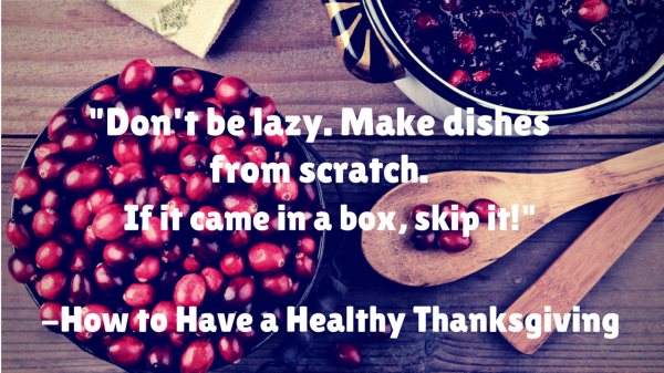 THANKSGIVING Healthy Tips