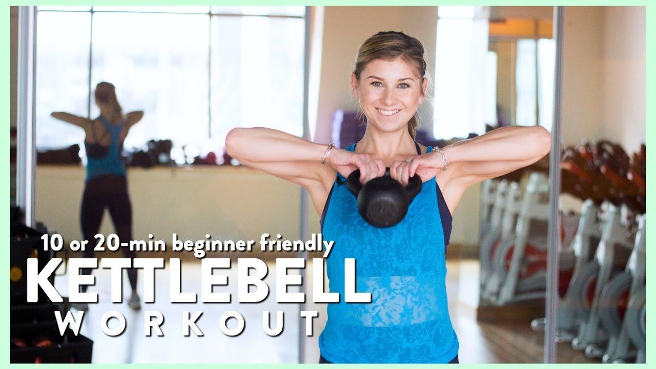 Fat Burning 10 or 20-min Kettlebell Workout, Beginner Friendly   Sarah ...